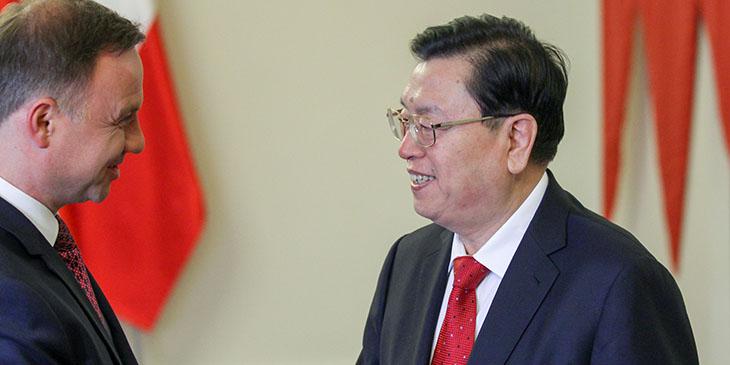 Prezydent Duda przyjął przewodniczącego parlamentu Chin
