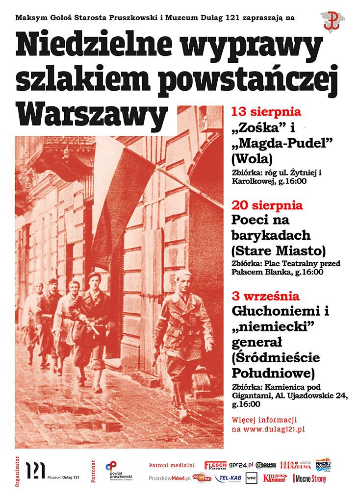 Niedzielne wyprawy szlakiem powstańczej Warszawy