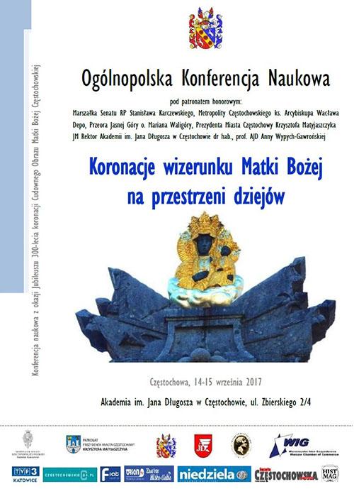 """Ogólnopolska Konferencja Naukowa """"Koronacje wizerunku Matki Bożej na przestrzeni dziejów"""""""