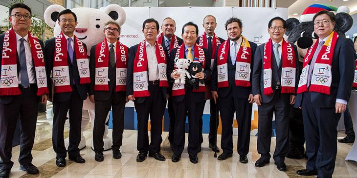 Przedstawiciele IO PyeongChang 2018 z wizytą w Warszawie, foto: Szymon Sikora PKOl