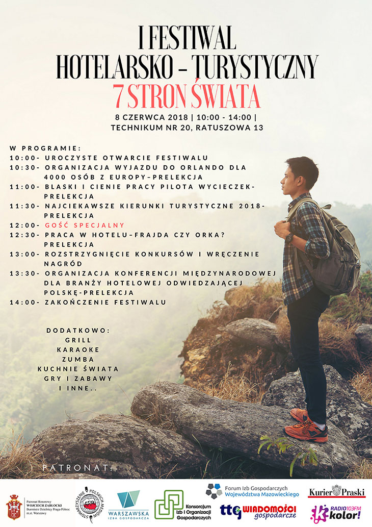 I Festiwal Turystyczno-Hotelarski - Warszawa, 8 czerwca 2018