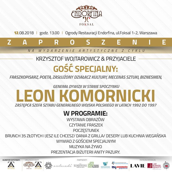 Zaproszenie na spotkanie autorskie z Leonem Komornickim