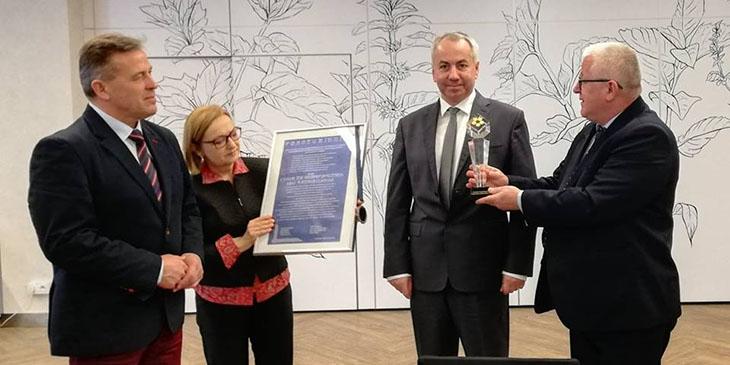 Od lewej: Andrzej Sitnik - prezydent Siedlec, Ada Kostrz-Kostecka - wiceprezes WIG, Zenon Chodowiec - prezes Wschodniej Izby Gospodarczej oraz Marek Traczyk - prezes WIG