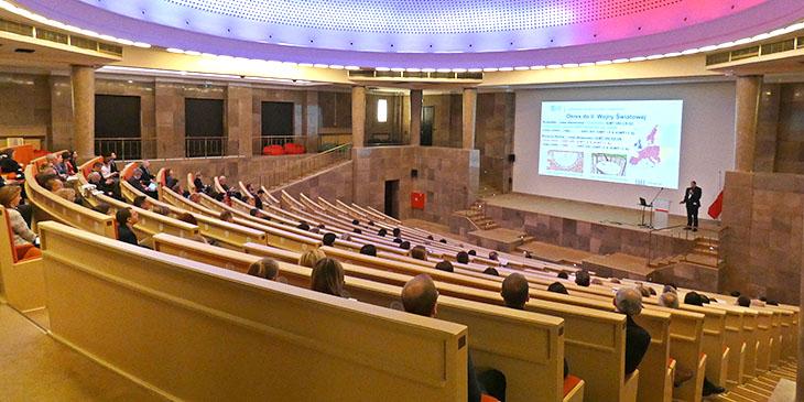 Konferecnja odbyła się w auli Ministerstwa Przedsiębiorczości i Technologii