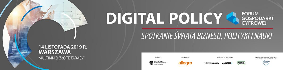 Forum Gospodarki Cyfrowej - Digital Policy 2019