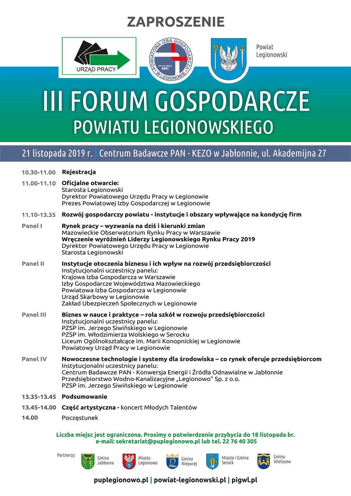 III Forum Gospodarcze w Legionowie