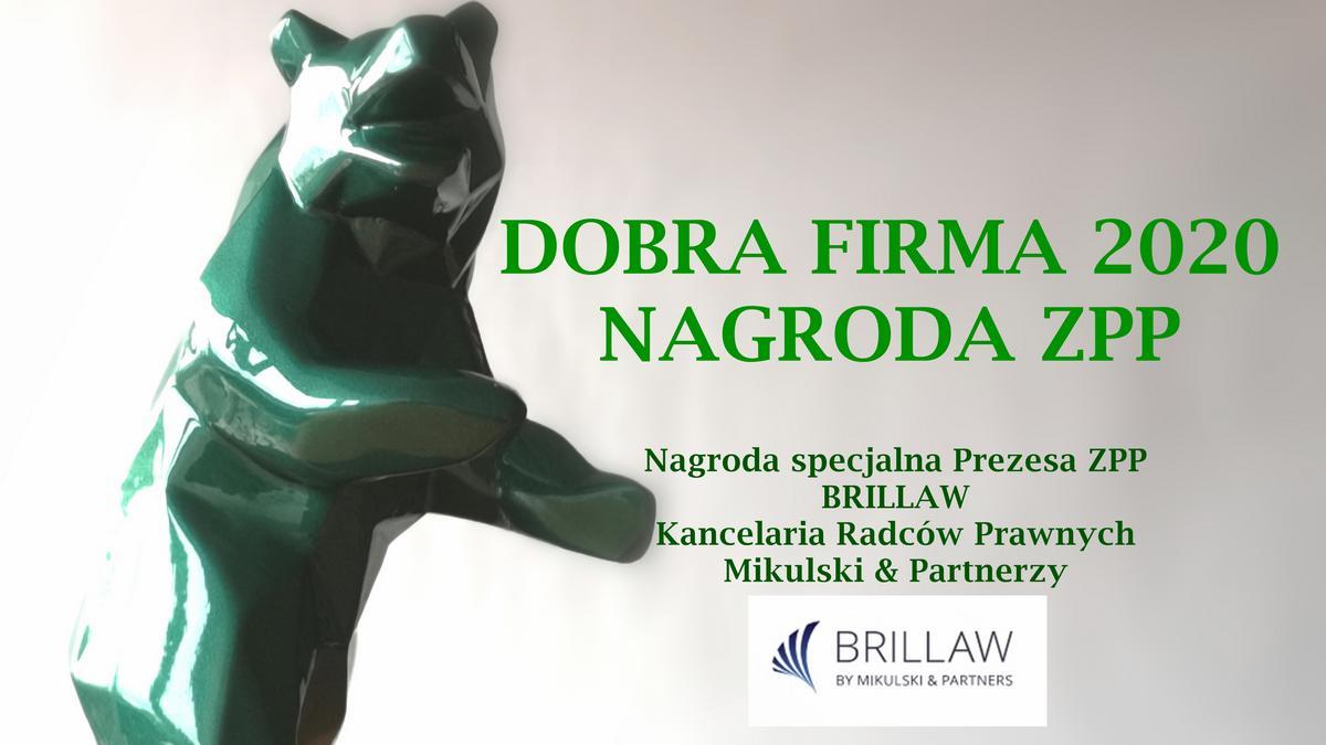 BRILLAW laureatem konkursu Dobra Firma